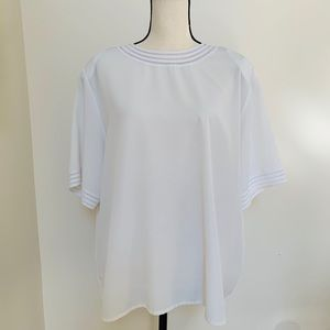 Yves St. Clair 2 | 18W White polyester blouse